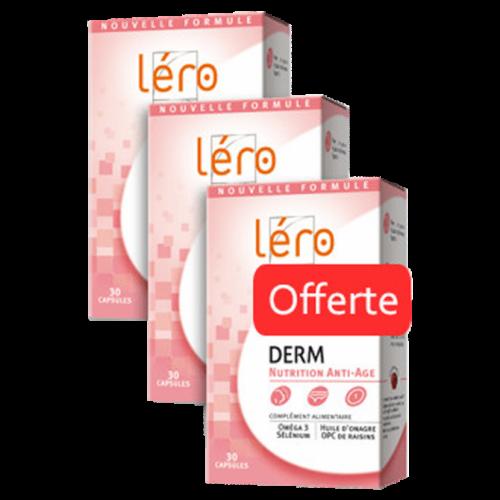 LERO DERM COMPLÉMENT ALIMENTAIRE POUR LA PEAU x 3 - 30 Capsules