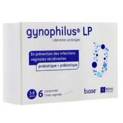GYNOPHILUS LP Probiotic + Prébiotique 6 Comprimés