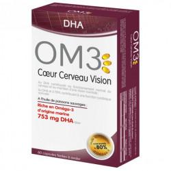 OM3 Cœur Cerveau Vision - 60 Capsules