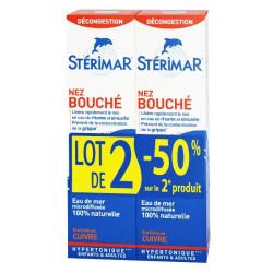 STÉRIMAR HYPERTONIQU NEZ BOUCHE ENRICHE EN CUIVRE LOT 2 - 100 ml