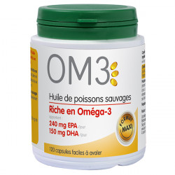 OM3 Huile de poissons sauvages - 150 Capsules