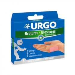 URGO Brûlures, blessures superficielles: soulage et cicatrise