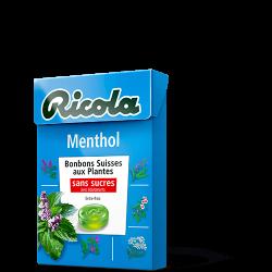 RICOLA MENTHOL Bonbons Sans Sucres 50g