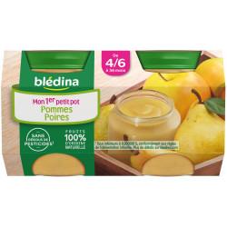 BLEDINA POMME-POIRE POT130G*2