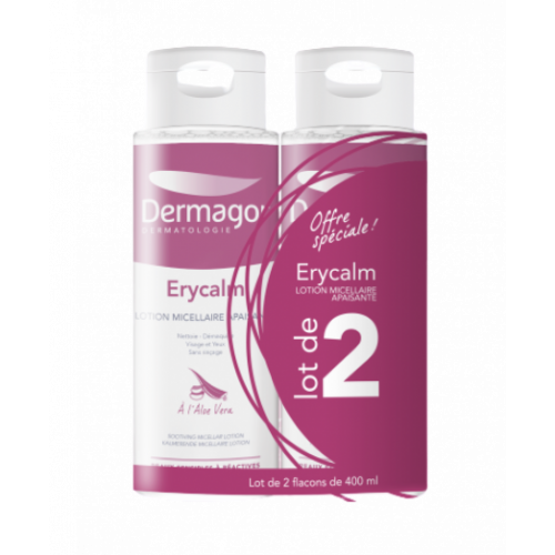 DERMAGOR ERYCALM LOT MICEL x 2 - 400 ml