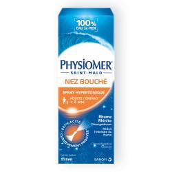 PHYSIOMER HYPERTONIQUE NEZ BOUCHÉ, SPRAY NASAL - 135ml