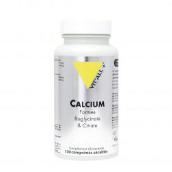 VITALL+ CALCIUM Bisglycinate & Citrate - 100 Comprimés