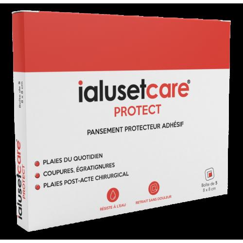 IALUSET CARE PANSEMENT PROTECT 4X4CM - 5 Pansements