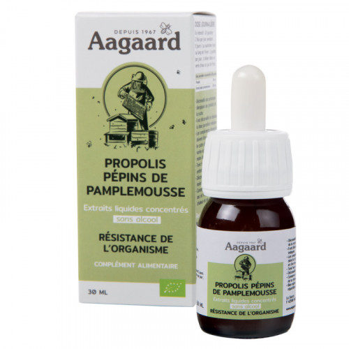 AAGAARD GOUTTES PROPOLIS SANS ALCOOL - 30 ml