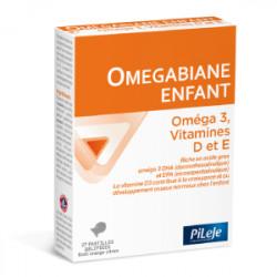 PILEJE BIANE ENFANT Oméga 3 Vitamine D et E - 27 Pastilles