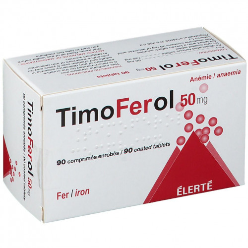 TIMOFEROL 50 mg, comprimé enrobé, boîte de 90