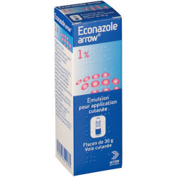 ECONAZOLE ARROW 1 %, émulsion pour application cutanée, flacon