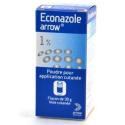ECONAZOLE ARROW 1 %, poudre pour application cutanée, flacon de