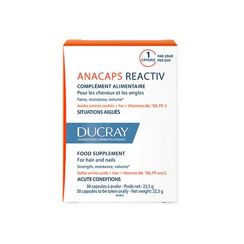 DUCRAY ANACAPS REACTIV - Lot de 3x30 Gélules