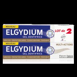 ELGYDIUM DENTIFRICE MULTI-ACTIONS Gel Lot de 2X75ml