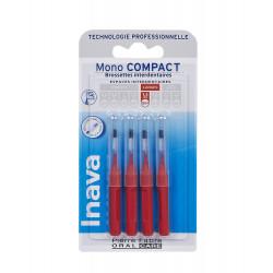 INAVA BROSSETTE MONO COMPACT ROUGE 1.5mm - 4 Brossettes