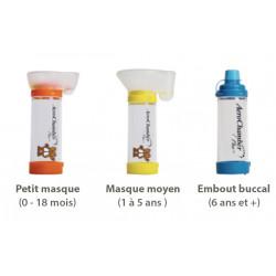 AEROCHAMBER + TRUDELL Chambre d'inhalation Pédiatrique 1-5 Ans
