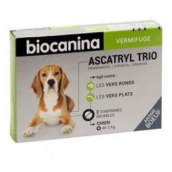 BIOCANINA Ascatryl Trio Plus De 10 Kilos - 2 Comprimés