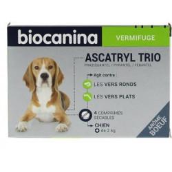 BIOCANINA Ascatryl Trio plus de 2 kilos - 4 Comprimés