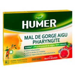HUMER MAL DE GORGE AIGU PHARYNGITE Fruits rouges - 20 Pastilles