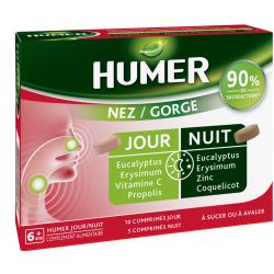 HUMER NEZ GORGE Jour / Nuit - 15 comprimés