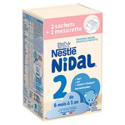 NIDAL 2 Lait Bébé en Poudre - 6 Mois à 1Ans - 700g