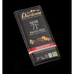 DARDENNE TABLETTE CHOCOLAT NOIR FRUITS SECS - 180G