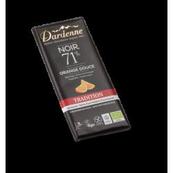 DARDENNE TABLETTE CHOCOLAT NOIR ORANGE DOUCE - 70G