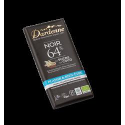 DARDENNE TABLETTE CHOCOLAT NOIR SUCRE DE COCO - 100g