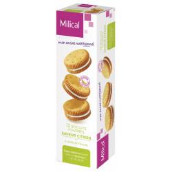 MILICAL Biscuits fourrés saveur citron 12 biscuits