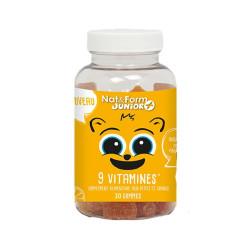 NAT & FORM JUNIOR+ 9 Vitamines OURS - 60 Gommes