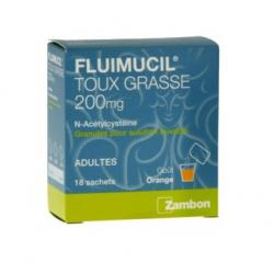 Fluimucil Expectorant 200 mg sans sucre adultes granulés 18